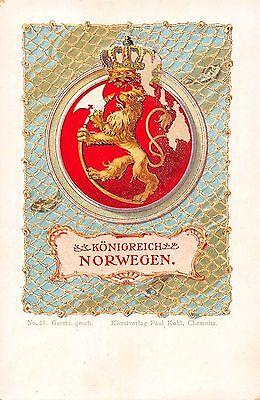 AK Litho. Königreich Norwegen Kunstverlag Paul Kohl Chemnitz vor 1945