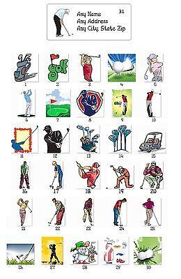 30 Personalized Return Address Labels Golf Buy 3 Get 1 Free