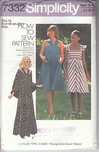 Vintage Simplicity 1970s Cute Sun Dress and Shawl Size 14  Uncut Sewing Pattern