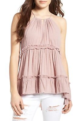 New Sun   Shadow Nordstrom Tiered Gauze Tank Mauve Pink Size Large Nwt