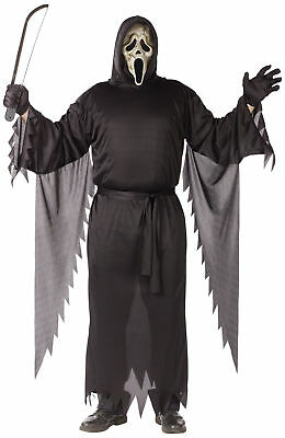 ult Costume Hooded Robe Halloween Funworld Plus Size (Ghostface Robe)