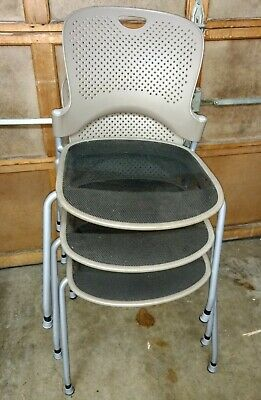 3 Herman Miller Caper Stacking Chair Flexnet Seating Excellent Condition Three