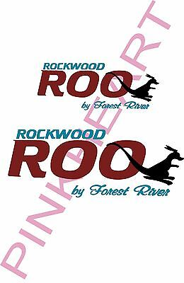 Rockwood ROO by forest river decal Rv camper decals graphics sticker