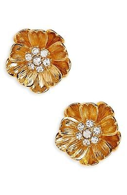 Kate Spade Precious Poppies Earrings NWT Arresting Poppy Blossoms Stud Gold