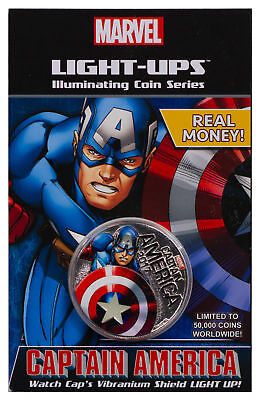 Fiji Marvel Light-Ups Captain America Silver Plt Specimen SKU49760