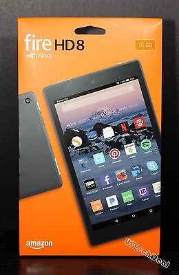 Fire Hd 8 Tablet With Alexa  8  Hd Display  16 Gb  Black W Special Offers  New