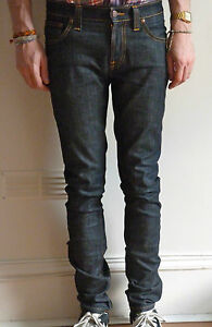 Nudie-Jeans-Tight-Long-John-Org-Dry-Twill-Indigo-Raw-Skinny-Drainpipe-w29-A-P-C