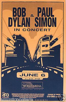 BOB DYLAN / PAUL SIMON 1999 COLORADO SPRINGS CONCERT TOUR POSTER - Rock Music