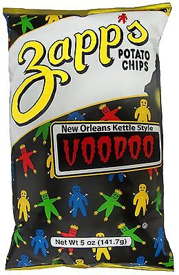 6 BAGS! Zapp's Cajun VOODOO Style Potato Chips New Orleans FREE SHIP