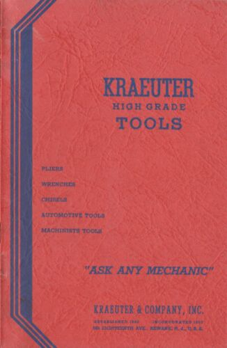 1939 Kraeuter High Grade Tools Catalog No. 18