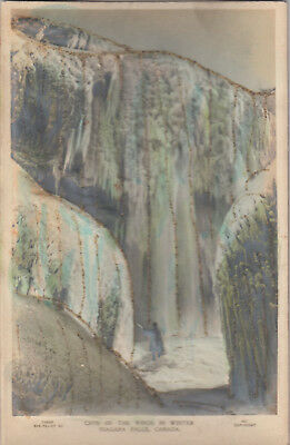 (RP [embossed] Repeating postcard; Cave of the winds in Winter, Niagara Falls, On)