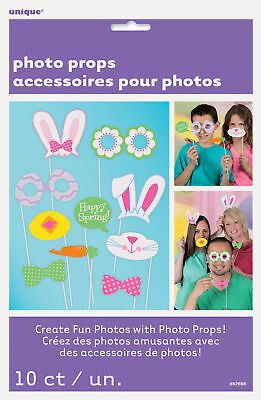 10 x EASTER Photo Booth Bunny Face Photo Props Easter Party Activity Ideas](Photo Booth Ideas)