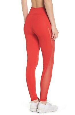 NEW Zella High Waist V Back Ankle Leggings Red Sz Medium M 8/10