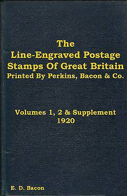 LINE ENGRAVED STAMPS OF GB 628p Perkins Bacon Co Penny Black 1d Red 2d Blue - CD