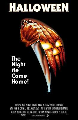 Movie Poster 1978 John Carpenter's Halloween With Jamie Lee Curtis (3 Sizes) - New Halloween Movie 3