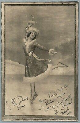 C.1930, ICE SKATER IRVING BROKAW, SIGNED AUTOGRAPH, PHOTO ART, J. ROSEMAN, PARIS