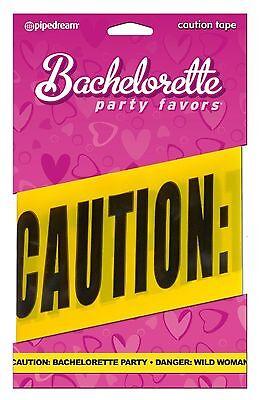 Bachelorette Party Favors Party Caution Tape Decoration Danger Wild Woman 20ft