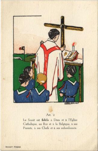 PC SCOUTING, LE SCOUT EST FIDÉLE A DIEU, Vintage Postcard (b28463)