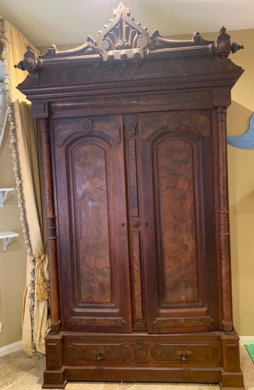 Beautiful Victorian Double Door Armoire Wardrobe