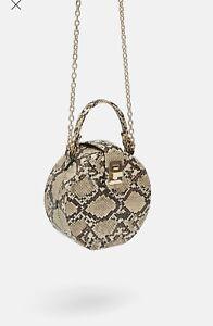 Zara Snakeprint Round Bag/Purse