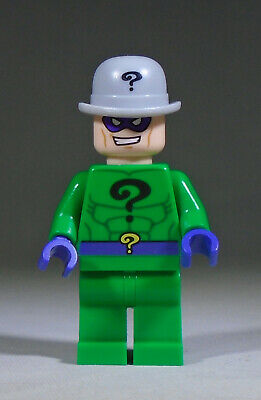 used LEGO DC Comics Super Villain Minifig: The Riddler in a bowler hat