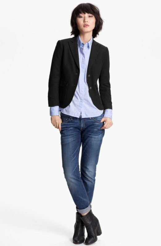Rag & Bone 'Nancy' Blazer Sz 0 Navy