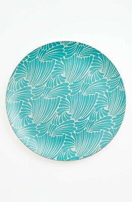 Kate Spade Florence Broadhurst Finger-Small Tray Serving Platter Wood Aqua RARE - Small Wood Tray