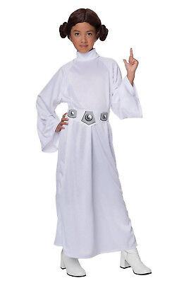 Star Wars CHILD Princess Leia Halloween Costume Dress S M Girl Kids Cosplay