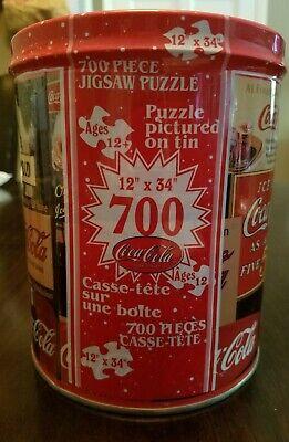 Vintage Coca-Cola 700 piece jigsaw puzzle in a keepsake tin. Brand new.
