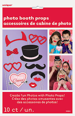 10 x Valentines Photo Booth Face Photo Props Party Activity Ideas FREE P&P](Valentines Party Ideas)