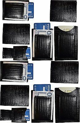 Black Lizard skin printed leather money clip unbranded money Clip New Lot of 12.