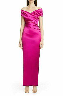 Talbot Runhof Women sleeveless off the shoulder Tokara gown | Size - 12 | Pink