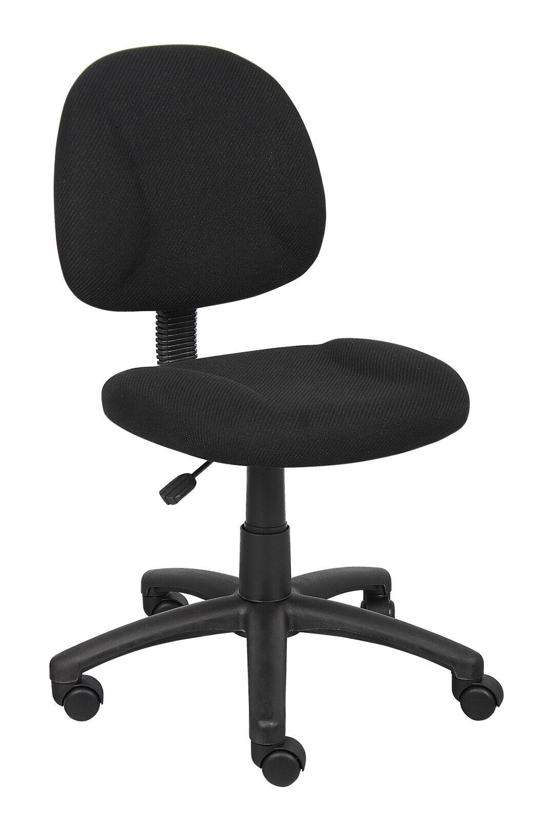 Boss Black Upholstered Deluxe Posture Task Chair, Multiple C