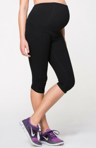 Ingrid & Isabel Knee Length Active Maternity Pants with Crossover Panel Size S