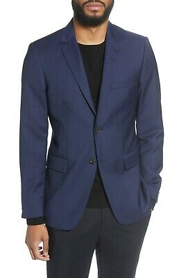 BNWT Tiger of Sweden Trim Fit Plaid Wool Sport Coat Size 42L MSRP $589!!