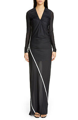 $1020 Y/PROJECT CONVERTIBLE FITTED LONG SLEEVE MAXI DRESS SIZE S SMALL BLACK