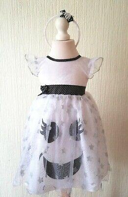 Girls Cute White Ghost Fancy Dress Costume Age 3 - 4 yr New Bnwt Halloween - Cute Ghost Kostüm