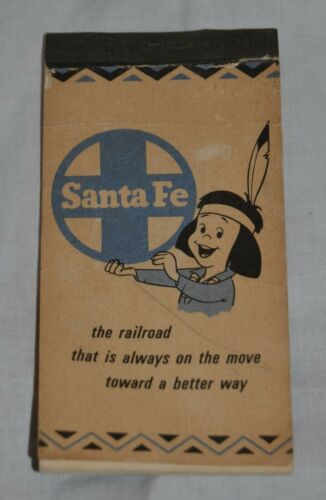 Vintage Santa Fe Railroad Advertising Pocket Notebook