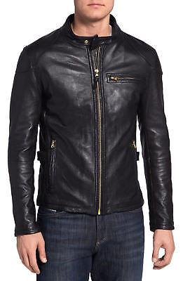 Men's Leather Jacket Biker Premium Lambskin Motorcycle Slim Fit Jackets