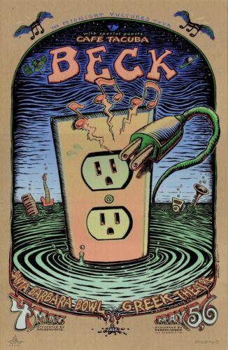 MINT/SIGNED/DOODLED Beck 2000 EMEK California Tour EARTHBOARD Poster