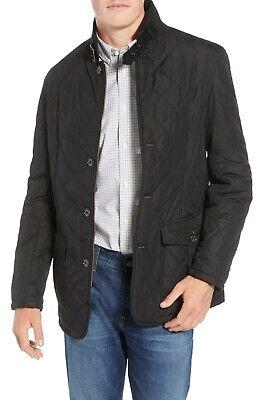 Barbour Men's Black Lutz Quilted Full Zip Jacket $280