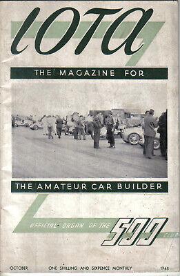 IOTA 500cc Racing Club Magazine October 1948 Official Organ of the 500 Club