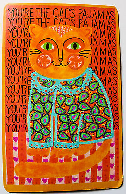 "Vintage 1960s Postcard - ""You're the Cat's Pajamas"" Orange Cat"