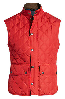 Barbour Lowerdale Quilted Gilet Vest Men's XL Chili Red NWT