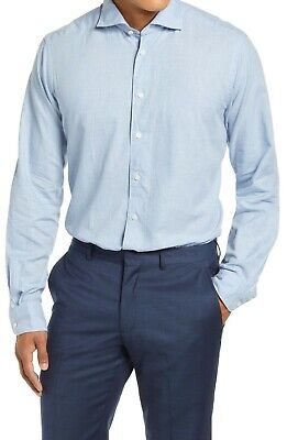 BNWT Eton Contemporary Fit Flannel Check Soft Casual Shirt Size 16.5 MSRP $195!!