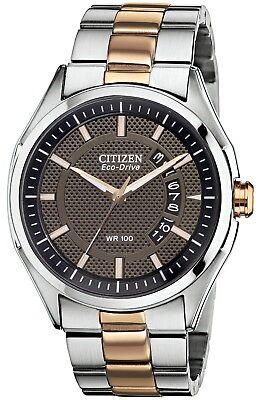 Citizen Men's Eco-Drive Rose Gold Tone Bracelet 40mm Watch AW1146-55H