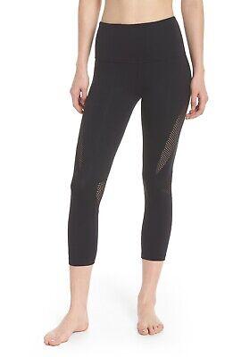 ZELLA Nordstrom Black High Waist Mesh Insert Crop Leggings Size XS NEW