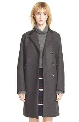 Marc By Marc Jacobs Wool Coat - Marc by Marc Jacobs 'Norman' Bonded Wool Coat, CAVIAR GREY MELANGE, Size 4, $858