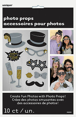 New Photo Booth Ideas (10 x New Year Photo Booth Face Photo Props Party Activity)