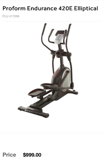 Pro form Cross trainer near new